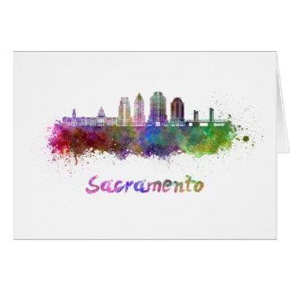 Sacramento V2 skyline in watercolor Card