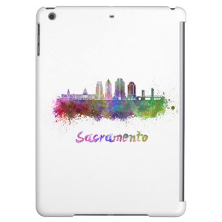 Sacramento V2 skyline in watercolor Cover For iPad Air