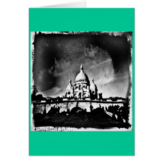 Sacre Coeur BW Greeting Card