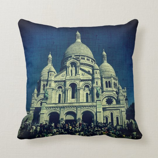 Sacré-Cœur Montmartre Canvas Paris Throw Pillow