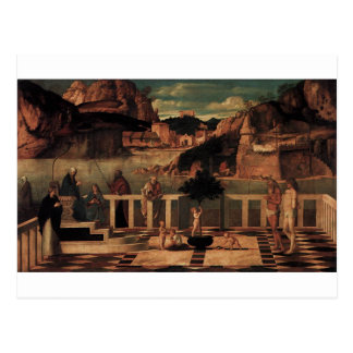Sacred Allegory by Giovanni Bellini Postcard