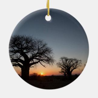 Sacred Baobabs Ceramic Ornament