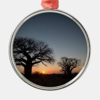 Sacred Baobabs Metal Ornament