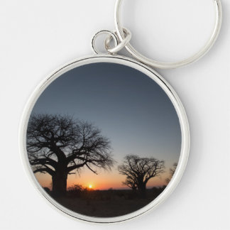 Sacred Baobabs Silver-Colored Round Keychain