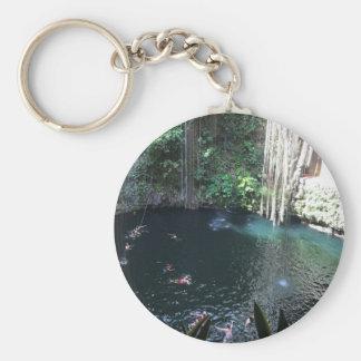 Sacred Blue Cenote, Ik Kil, Mexico #2 Keychain