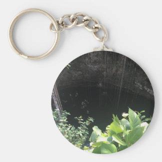 Sacred Blue Cenote, Ik Kil, Mexico #3 Basic Round Button Keychain