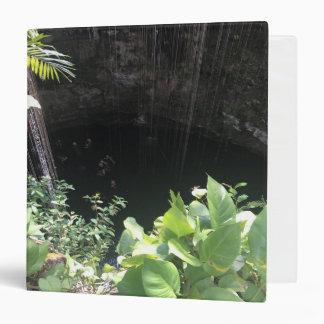 Sacred Blue Cenote, Ik Kil, Mexico #3 Binder