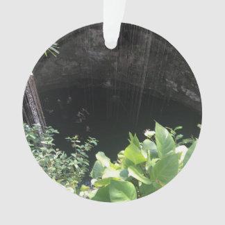 Sacred Blue Cenote, Ik Kil, Mexico #3 Ornament
