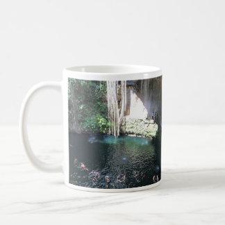 Sacred Blue Cenote, Ik Kil, Mexico #4 Mug