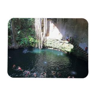 Sacred Blue Cenote, Ik Kil, Mexico #4 Photo Magnet