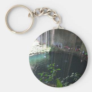 Sacred Blue Cenote, Ik Kil, Mexico Keychain
