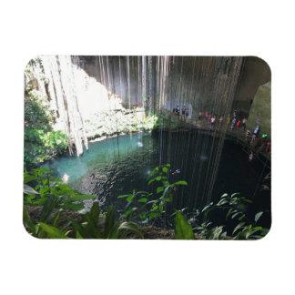 Sacred Blue Cenote, Ik Kil, Mexico Photo Magnet