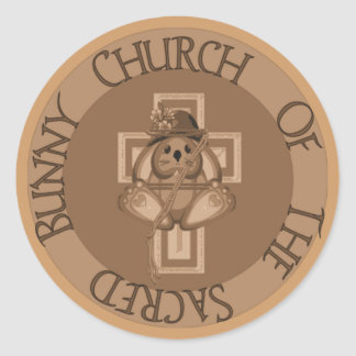 Sacred Bunny Church Classic Round Sticker