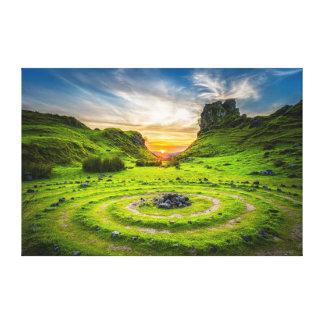 Sacred Circles Canvas Print