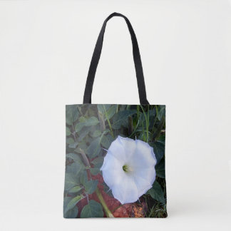 Sacred Datura Happy Sack Tote Bag