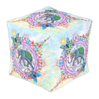 Sacred Elephant from India Pouf