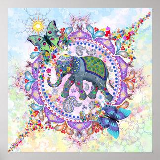 Sacred Elephant Poster