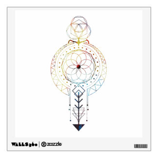 Sacred Geometry and Bohemian Inspired Wall Decal