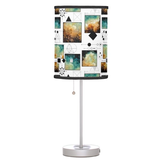 Sacred Geometry and Clouds Desk Lamps