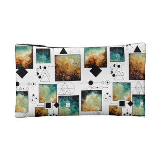 Sacred Geometry and Clouds Makeup Bags