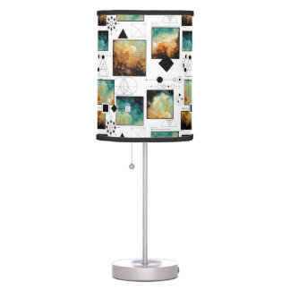 Sacred Geometry and Clouds Table Lamp