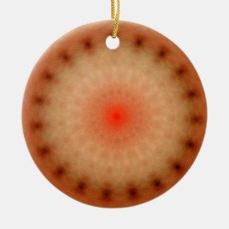 Sacred Geometry - Awaken Oneness Round Ceramic Ornament
