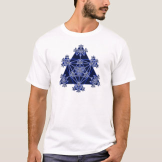 Sacred Geometry: Blue Triangles: T-Shirt