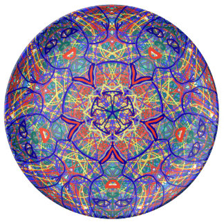 "Sacred Geometry ""Chavela"" Porcelain Plate by MAR"
