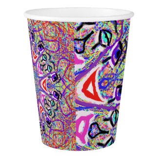 """Sacred Geometry ''Clowns"""" Paper cups by MAR Paper Cup"""