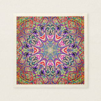 "Sacred Geometry ""Clowns"" Paper Napkins by MAR"
