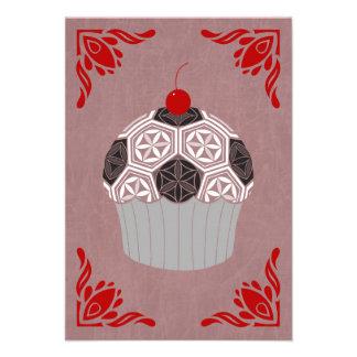 "sacred geometry cupcake 3.5"" x 5"" invitation card"