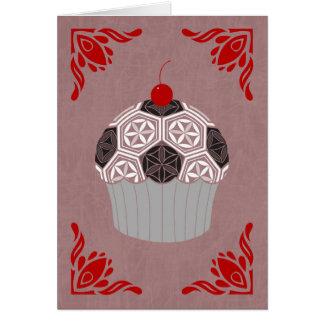 sacred geometry cupcake card