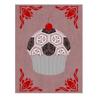 sacred geometry cupcake postcard