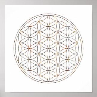 Sacred Geometry Flower Of Life (V-Elements) Poster