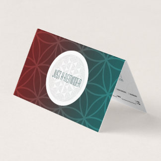 sacred geometry folded appointment reminder business card