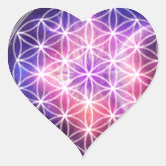 sacred geometry heart sticker