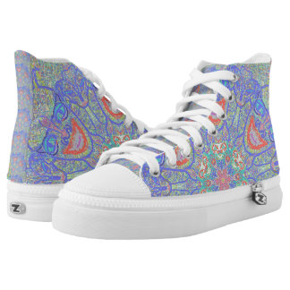 "Sacred Geometry High Top Shoes ""Gargoyles"" by MAR"