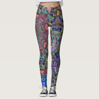 "Sacred Geometry ""Laughing"" Leggings  by MAR"