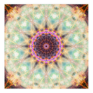 Sacred Geometry Mandala Acrylic Wall Art