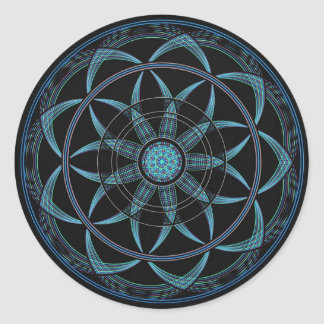Sacred Geometry Mandala - Bliss Round Sticker