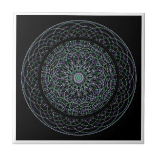 Sacred Geometry Mandala Ceramic Tile