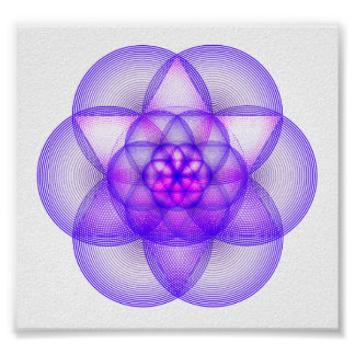 Sacred Geometry Mandala - The Genesis Pattern Poster
