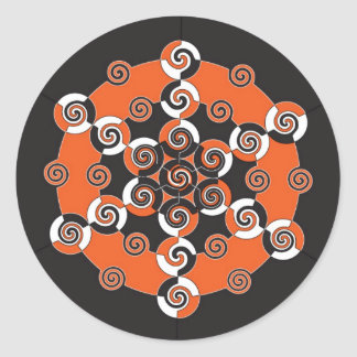 Sacred Geometry of Halloween Classic Round Sticker