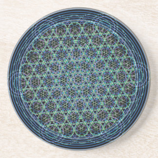 Sacred Geometry - Rain Flower of Life Coaster