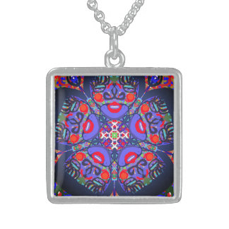 "Sacred Geometry ""Red Moon"" Necklace By MAR"