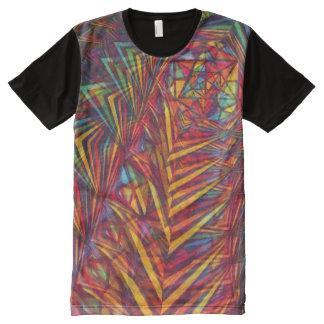 Sacred Geometry Shirt Rainbow Fractals