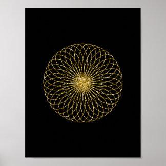 Sacred Geometry Symbol Poster