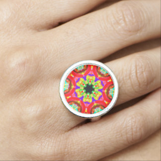"Sacred Geometry ""Tribal Face"" Ring by MAR"