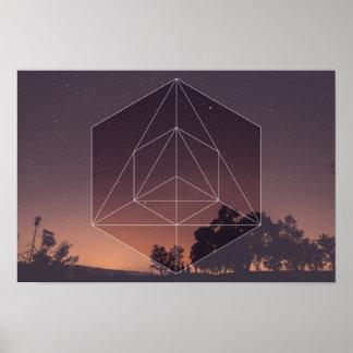 Sacred Geometry vs. The Nights Sky Poster