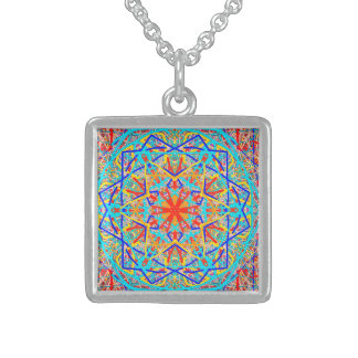 "Sacred Geometry ""Wheel"" by MAR Sterling Silver Necklace"